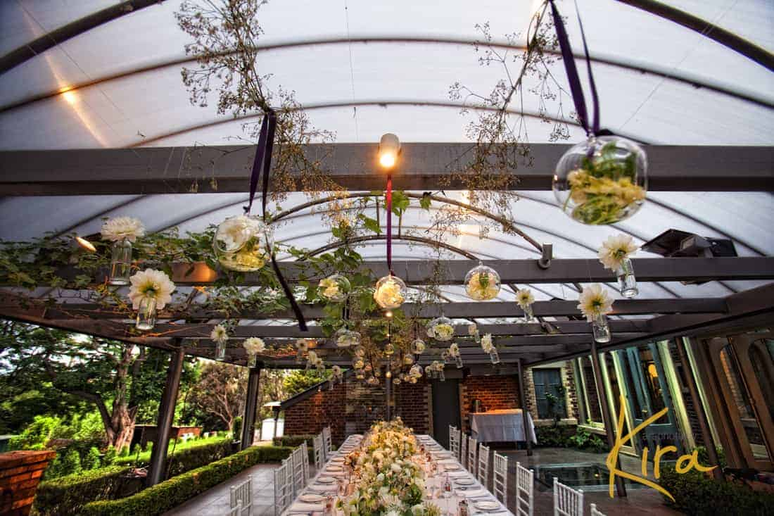Wedding decorations at Athol Gardens Reception