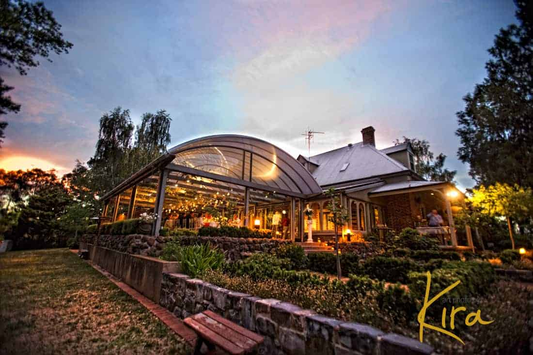 Wedding Venue Athol Gardens at sunset