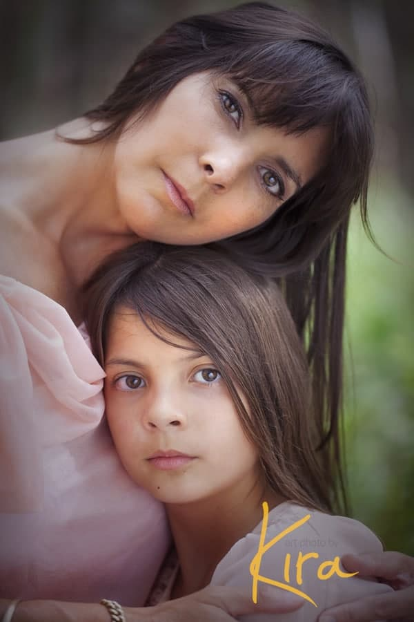 Mother and daughter family portrait shoot