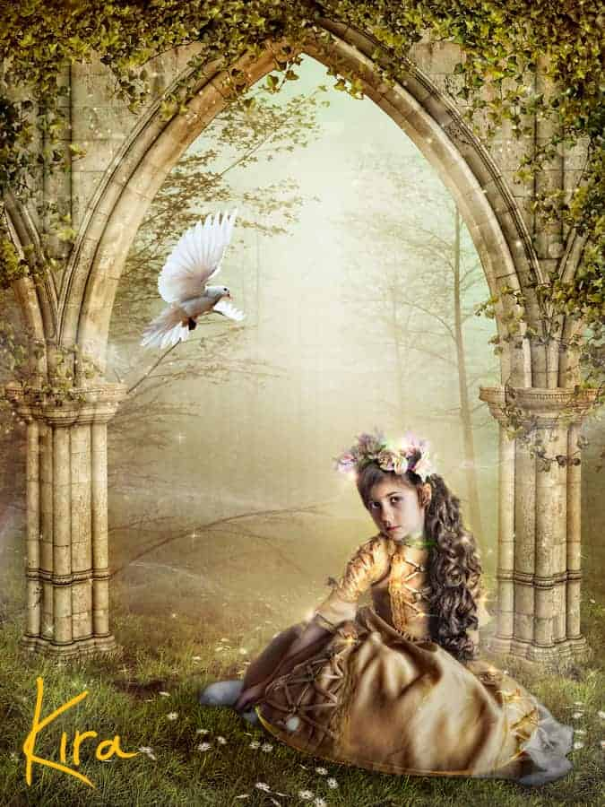 Magic, fairy-tale portrait of a girl