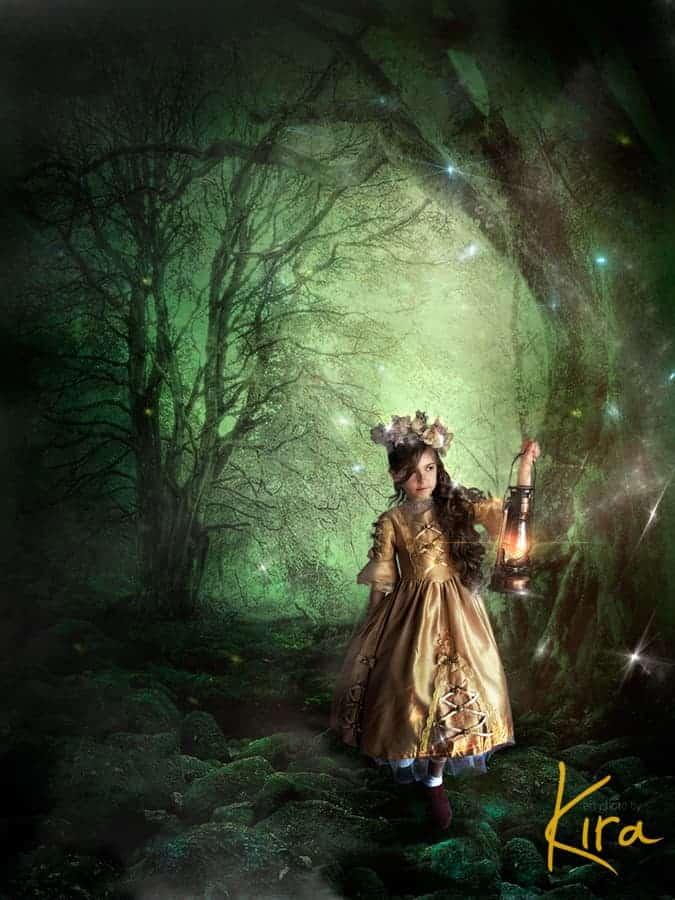 Magic, fairy-tale  portrait of a girl