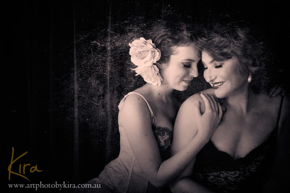 Mother and Daughter glamour photo shoot