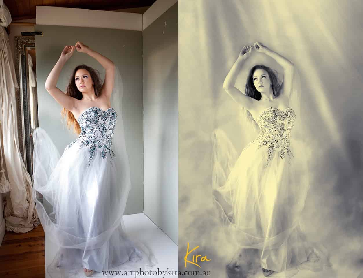Before and after transformation photography