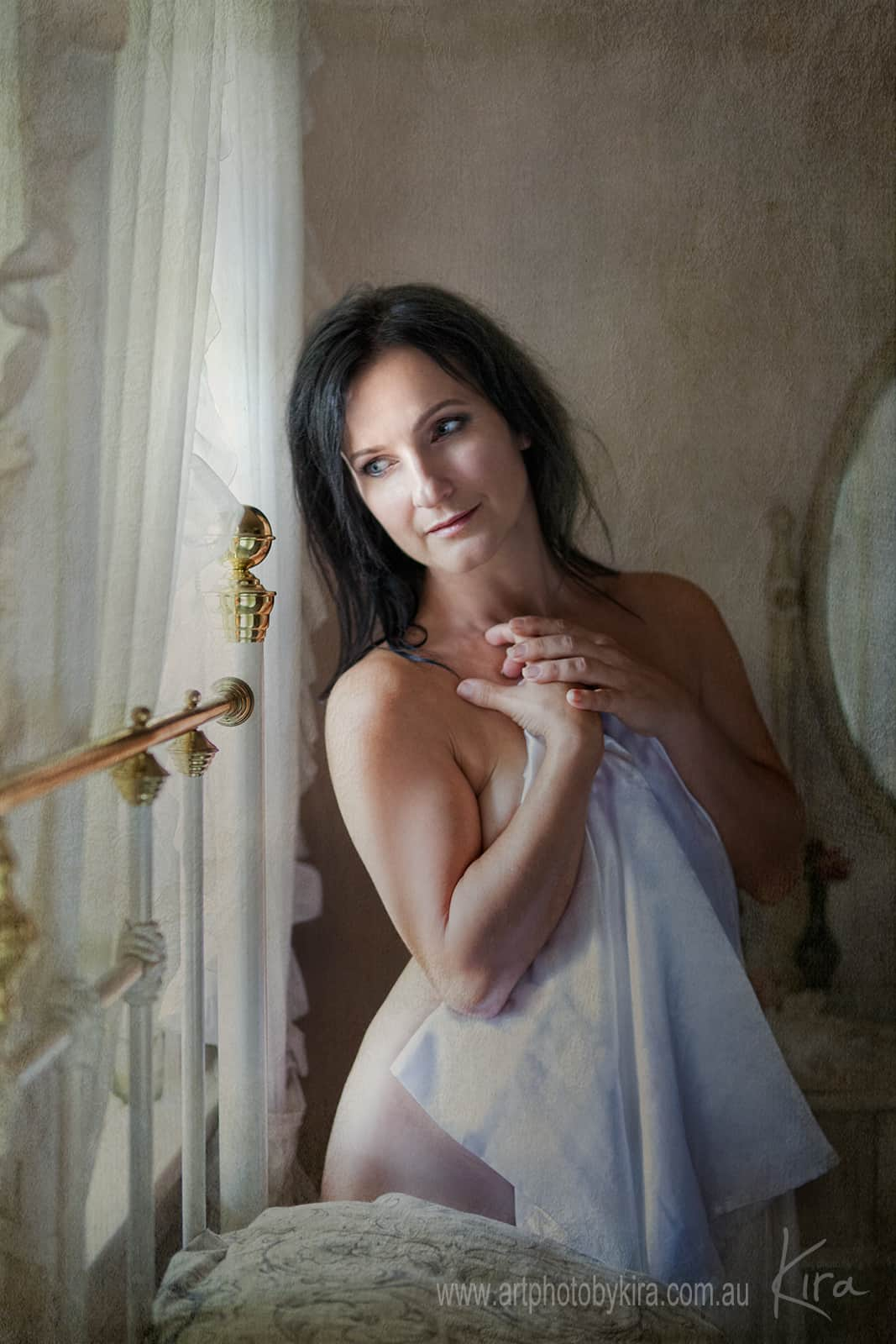 boudoir photography near window