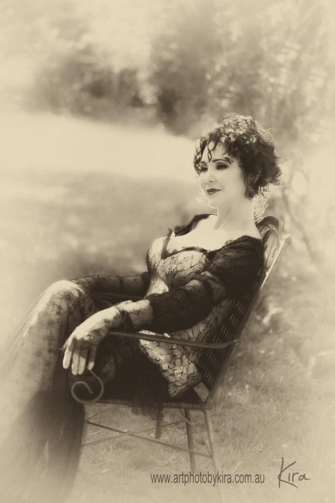 vintage glamour photography portrait