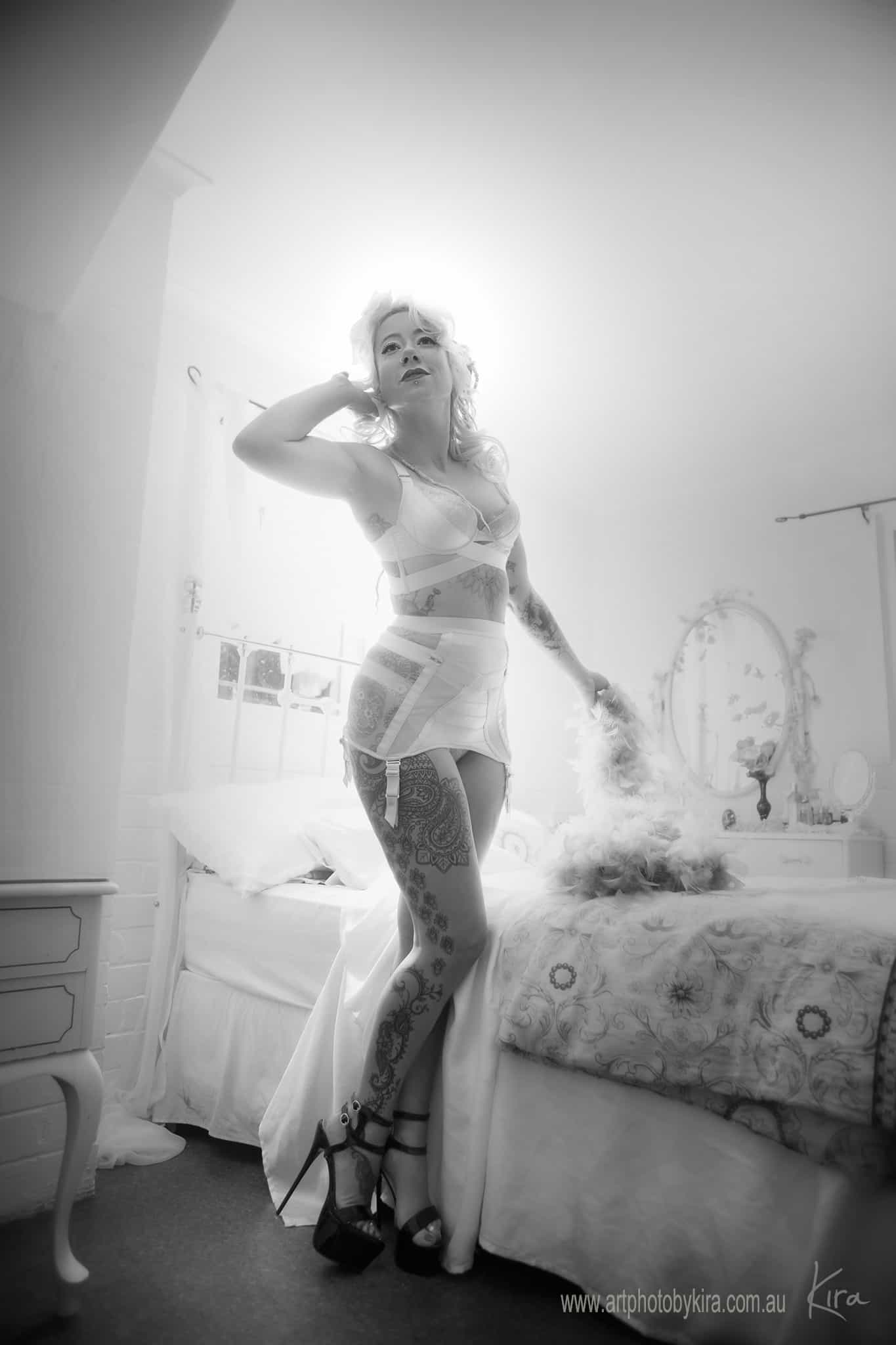 vintage boudoir photographer North Shore