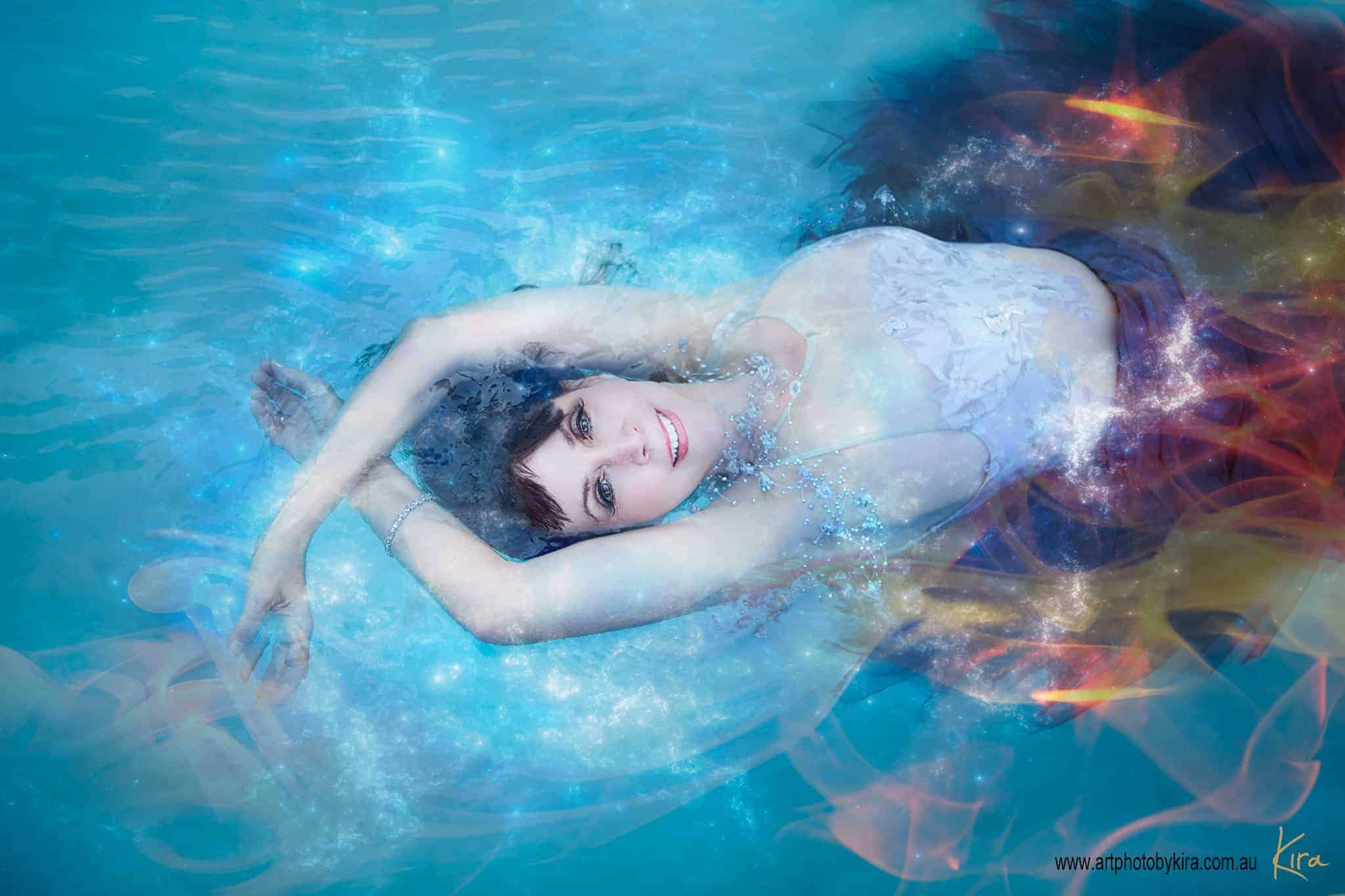 fine art portrait photography in water