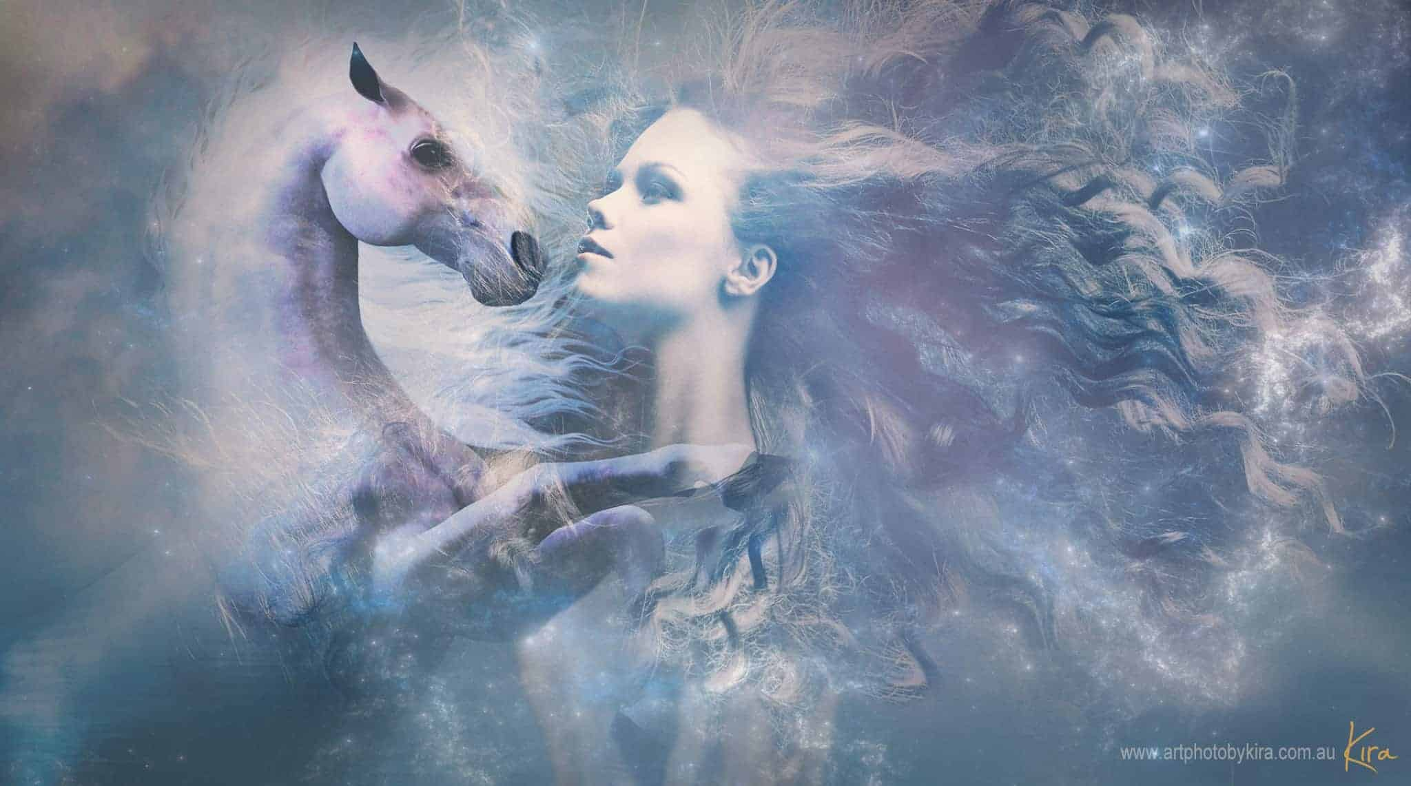 portrait photography fantasy horse