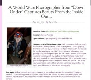 Glamour boudoir photographer interviewed