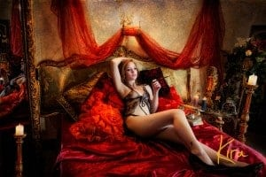 Boudoir and Glamour Vintage photography session Kira