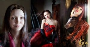 Before and After Image from a Boudoir and glamour photography session