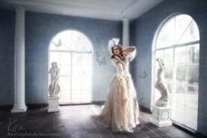 fantasy dress for glamour photography