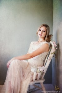 glamour photo portait of a girl sitting in a chair