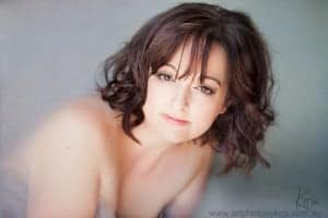 boudoir photography of a gorgeous mature woman