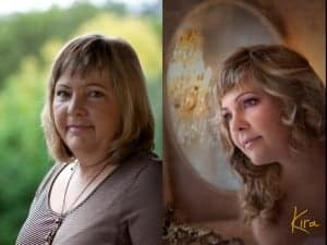 before after plus size boudoir photography
