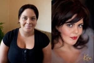 before after plus size glamour photography