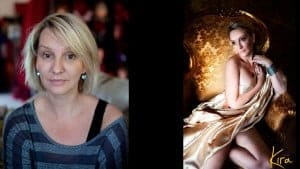 boudoir photography before and after Kira
