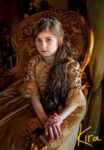 portrait family photo young girl