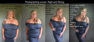tips for posing curves plus-size photography