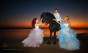 glamour shot fashion horse photography Kira