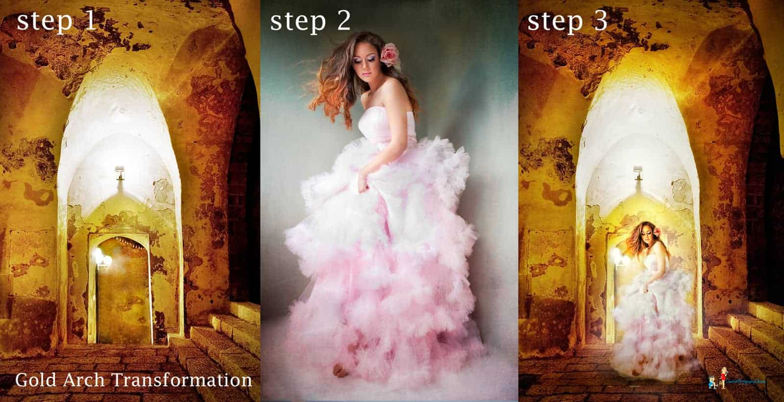 Gold Arch Photoshop Template Transformation Sydney Boudoir