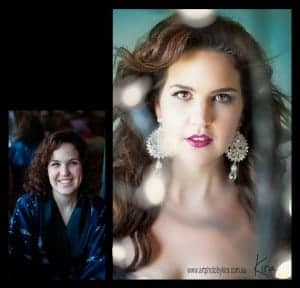 before after glamour photography Kira