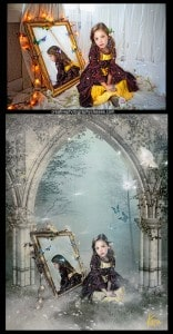 Photoshop fantasy composite digital background child photography Kira