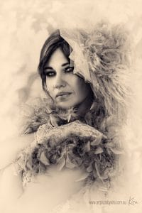 vintage glamour photography Kira