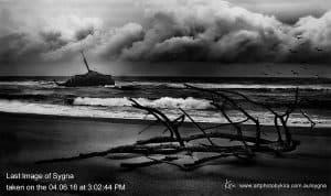 last image Sygma shipwreck on Stockton beach