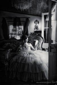 period portrait photography woman reading Kira