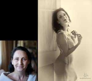 boudoir photography before after Kira