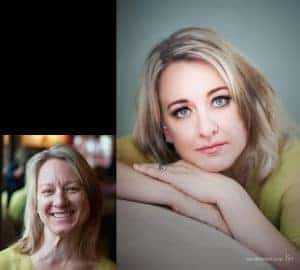 glamour photography before after Kira