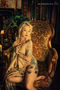 vintage boudoir photography