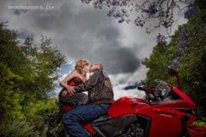 red motorbike portrait photography Sydney Kira