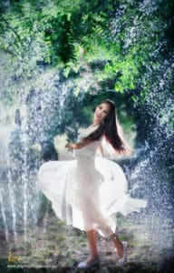 water portrait photography Kira