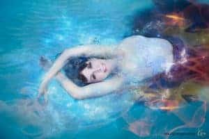 fine art portrait photography in water Kira