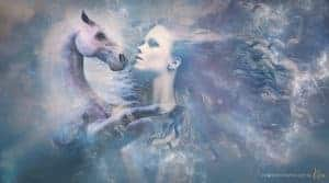 fine art fantasy portrait photography fantasy horse Kira