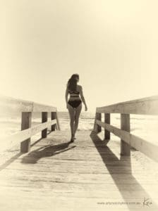 portrait photography on the beach Kira
