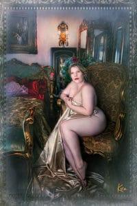 Fine art painting boudoir photography curves